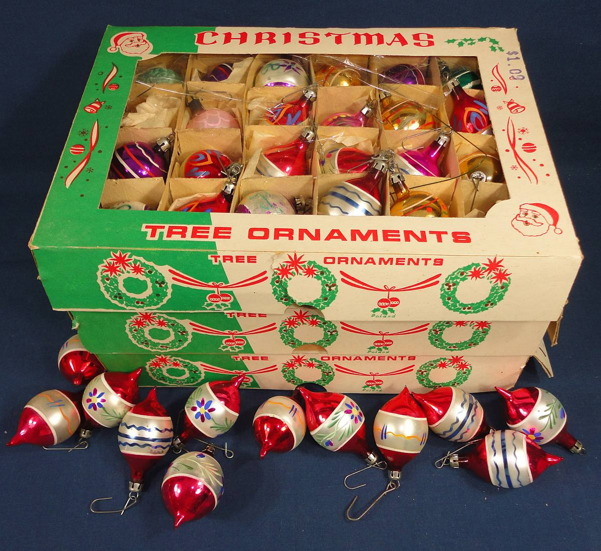 Fresh Christmas Tree ornaments 7 Dozen Small Glass Hand Painted Vintage Christmas ornaments for Sale Of Charming 43 Pictures Vintage Christmas ornaments for Sale