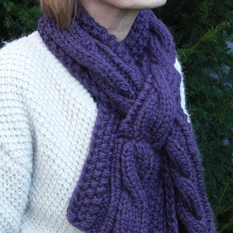 Fresh Chunky Hand Knit Scarf by Chi Chi Moi Chunky Knit Scarf Of Top 50 Photos Chunky Knit Scarf