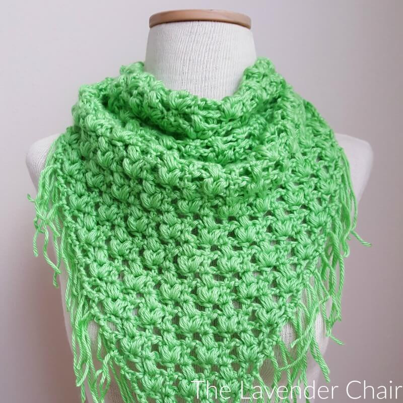 Fresh Clover Puff Triangle Scarf Crochet Pattern the Lavender Triangle Scarf Crochet Pattern Of Marvelous 44 Photos Triangle Scarf Crochet Pattern