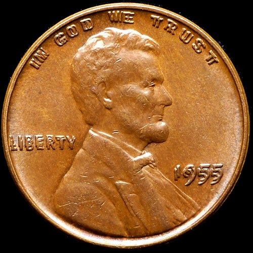 Conservation Showcase 1955 Doubled Die Obverse Lincoln