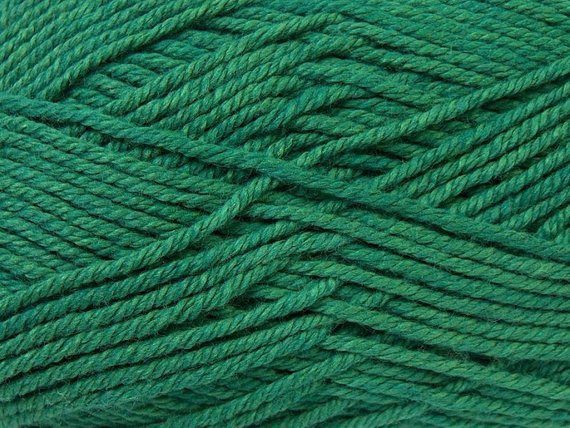 Cotton yarn Emerald green summer light yarn knitting