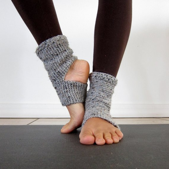 Fresh Cozy Grey Crochet Yoga socks by Anandamalas On Etsy Crochet Yoga socks Of Brilliant 48 Pictures Crochet Yoga socks