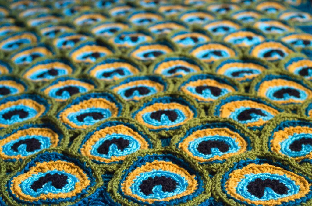 Fresh Craftdrawer Crafts Free Crochet Irish Lace and Roses Peacock Crochet Blanket Of Amazing 42 Photos Peacock Crochet Blanket