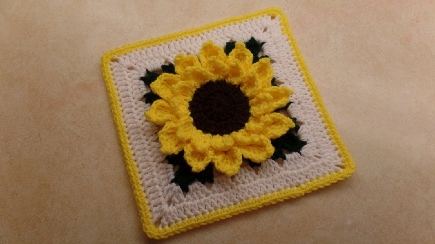 Fresh Crochet 10 Sunflower Granny Square Pattern Digital Sunflower Crochet Blanket Of Elegant Hand Crocheted Sunflower Granny Square Blanket Afghan Throw Sunflower Crochet Blanket