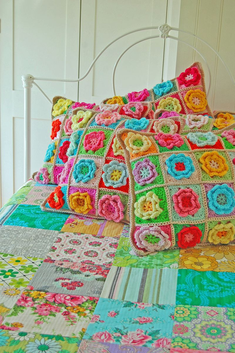 Fresh Crochet A Pretty Flower Square Pillow Crochet Flower Square Of Brilliant 47 Models Crochet Flower Square