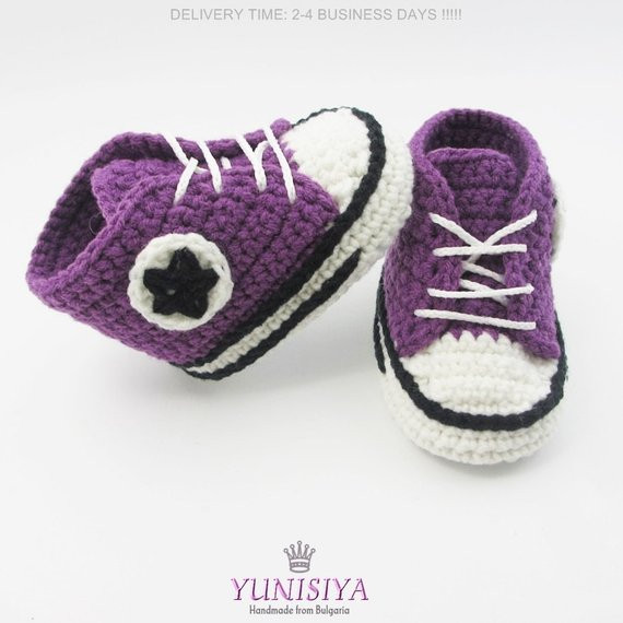 Fresh Crochet Baby Converse Crochet Baby Shoes Crochet Baby Crochet Converse Baby Booties Of Wonderful 41 Models Crochet Converse Baby Booties