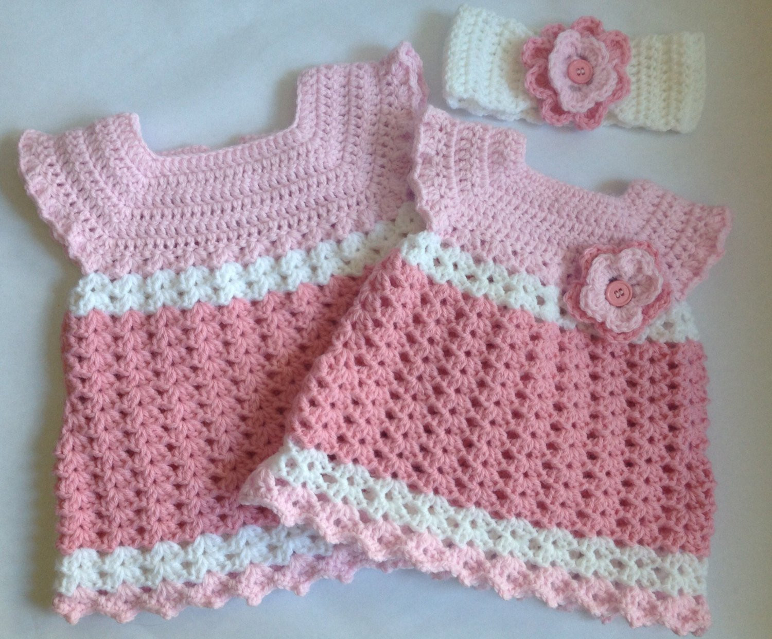 Fresh Crochet Baby Girl Dress with Headband Pdf Pattern Tutorial Crochet Dress for Baby Of Amazing 42 Photos Crochet Dress for Baby