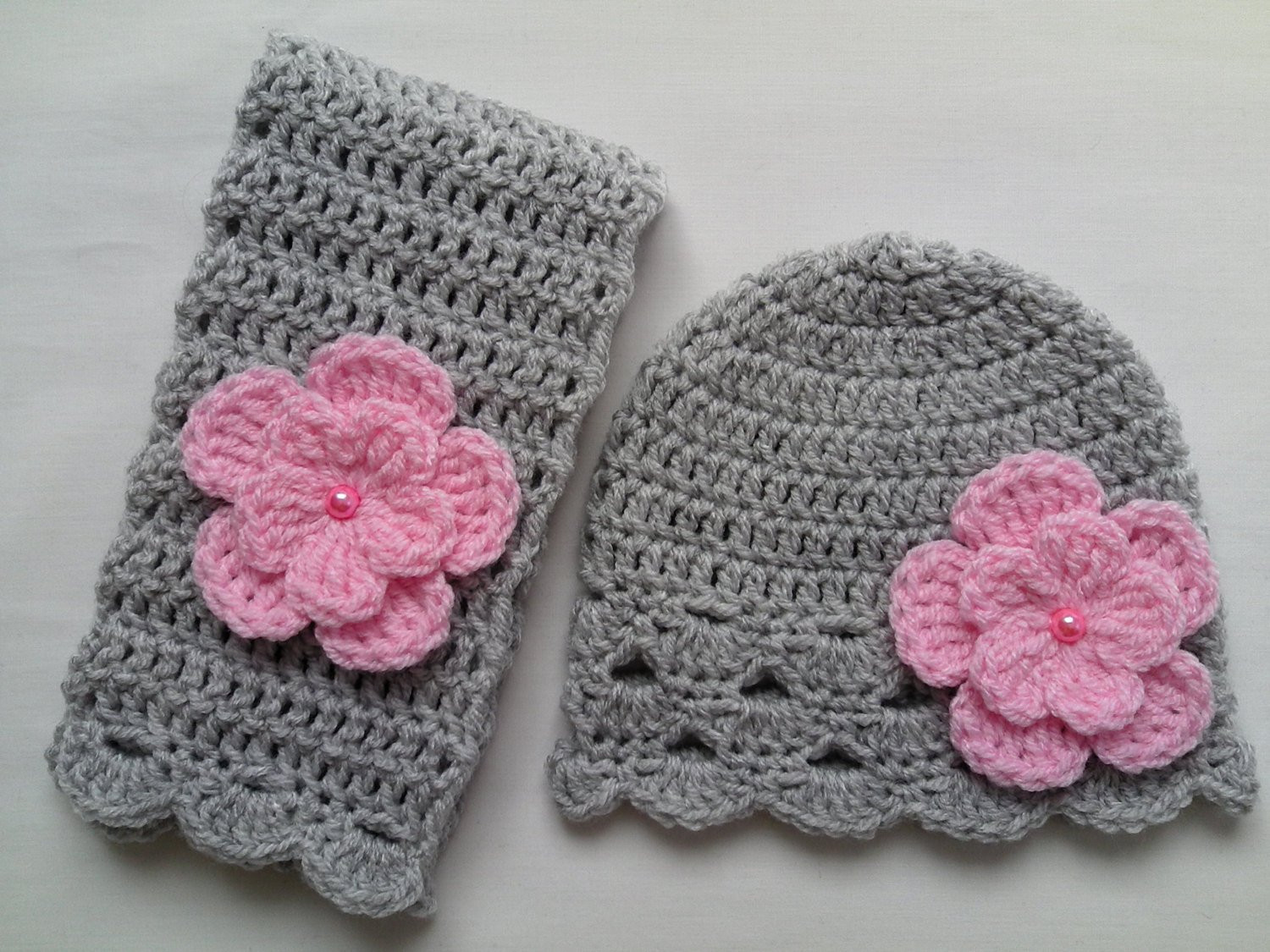 Fresh Crochet Baby toddler Kids Hat and Scarf Set T Grey Pink Crochet Kids Scarf Of New 9 Cool Crochet Scarf Patterns Crochet Kids Scarf