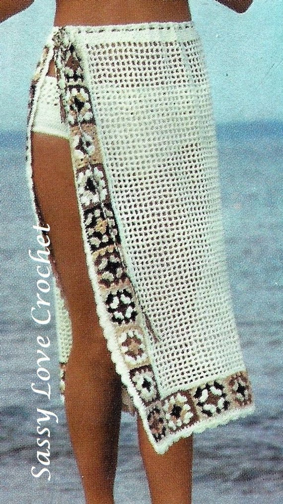 Fresh Crochet Bikini & Sarong Pattern Granny Square Sarong Wrap Crochet Sarong Of Adorable 35 Photos Crochet Sarong