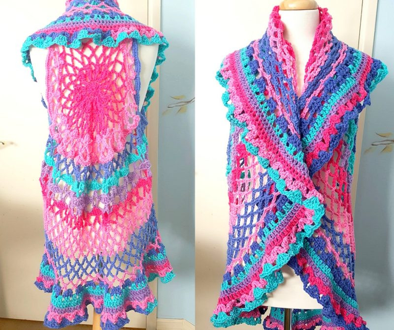 Fresh Crochet Boho Vest Perfect for Spring and In A Plus Size Crochet Vest Plus Size Of Beautiful 45 Pics Crochet Vest Plus Size