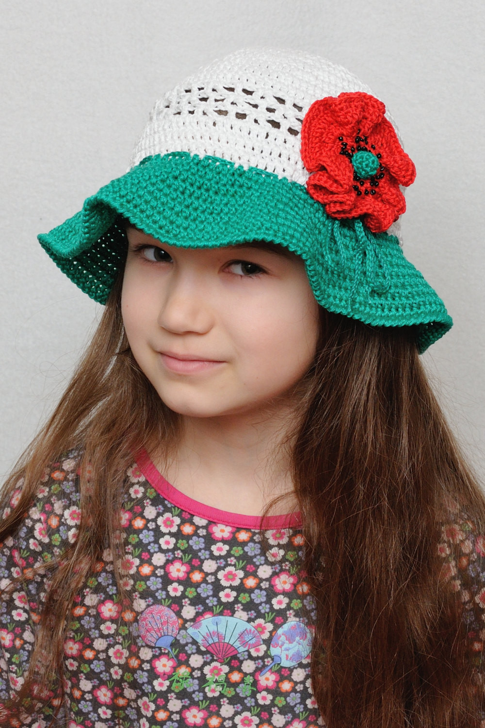 Fresh Crochet Bucket Hat Floral Crochet Sun Hat Girls Sun Hat Poppy Crochet Summer Hat Of Awesome 45 Images Crochet Summer Hat