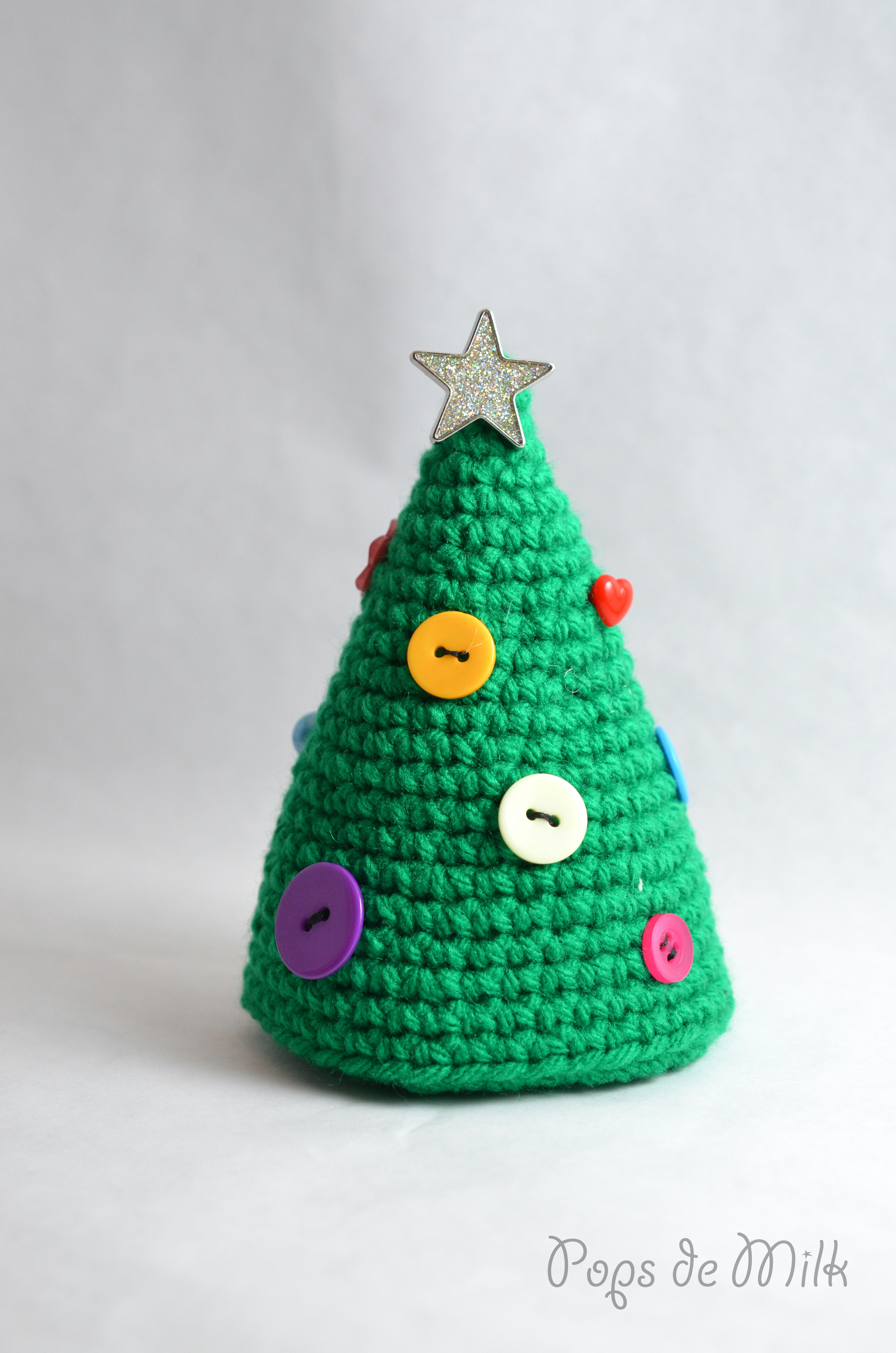 Fresh Crochet Christmas Tree with buttons Pops De Milk Crochet Christmas Trees Of Marvelous 46 Ideas Crochet Christmas Trees
