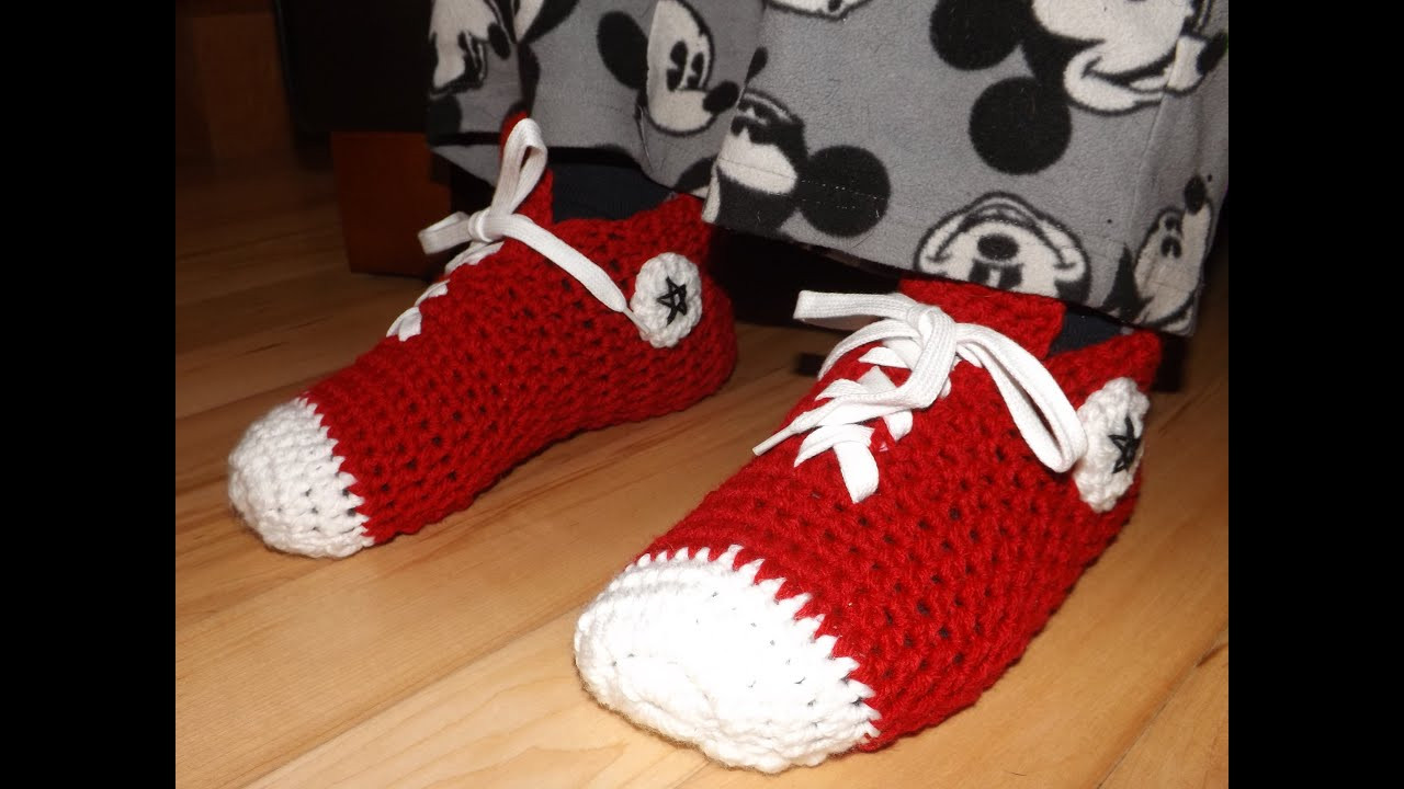Fresh Crochet Converse Sneakers for Adult Crochet Converse Slippers Of Amazing 40 Ideas Crochet Converse Slippers