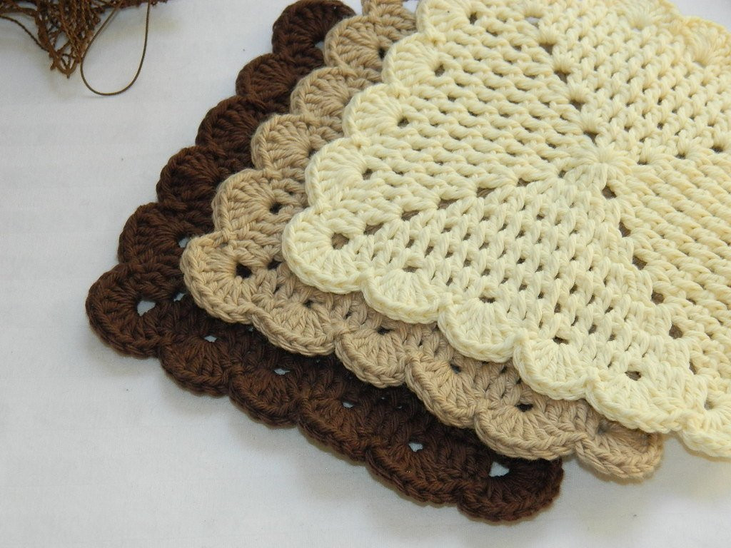 Fresh Crochet Dish Cloths Scalloped Wash Cloths by Afewlittlebumps Crochet Dish Rags Of Top 42 Models Crochet Dish Rags
