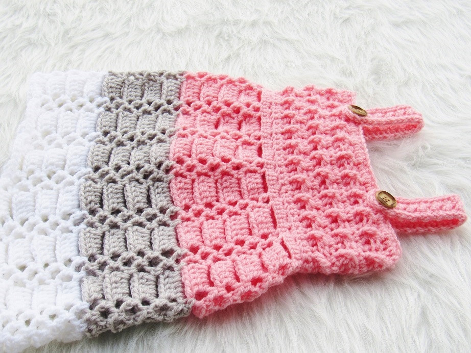 cotton candy jumper crochet baby dress