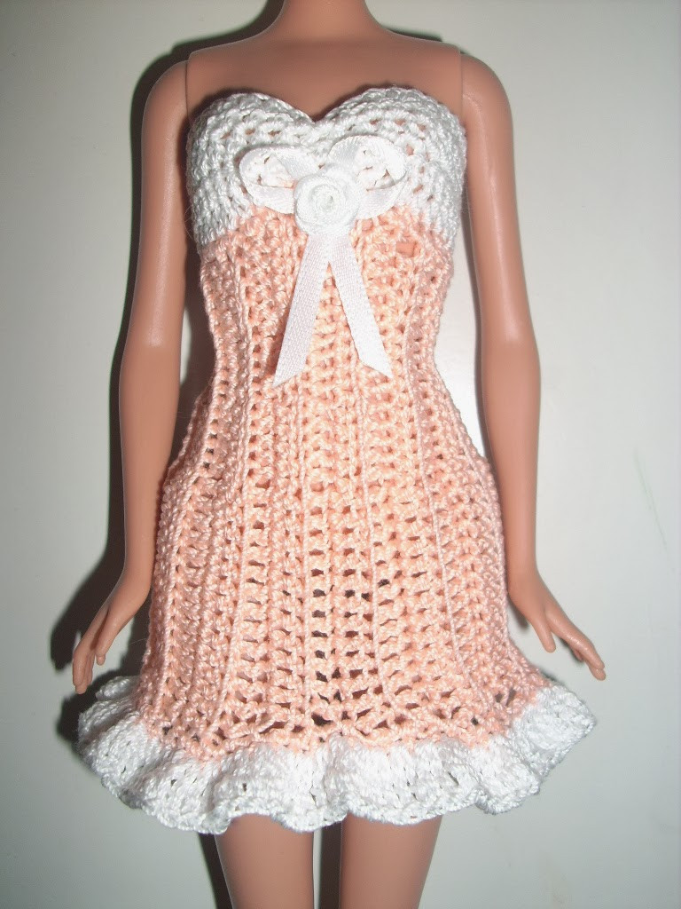 Fresh Crochet for Barbie the Belly button Body Type Free Crochet Doll Dress Patterns Of Top 50 Photos Free Crochet Doll Dress Patterns