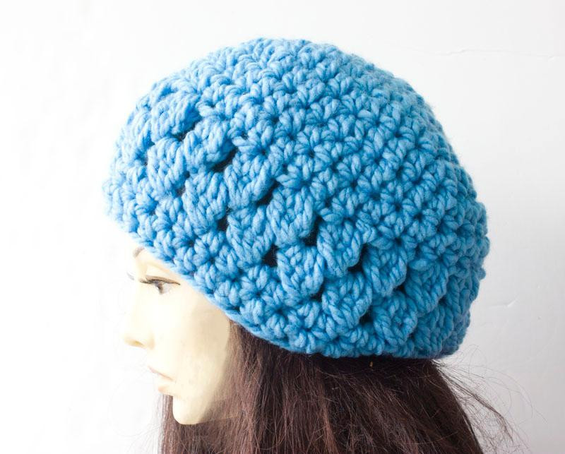 crochet hat pattern chunky wool