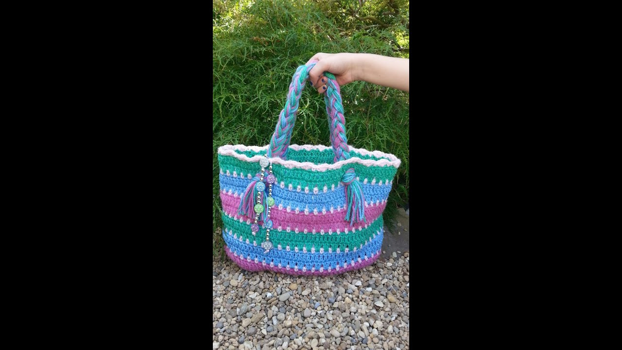 CROCHET How to Crochet Summer Beach Bag TUTORIAL 8