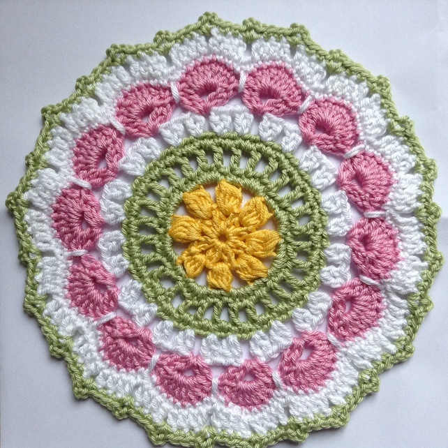 Fresh Crochet Mandala Table Mat In Pink White Green and Yellow Crochet Table Mat Of Gorgeous 47 Ideas Crochet Table Mat