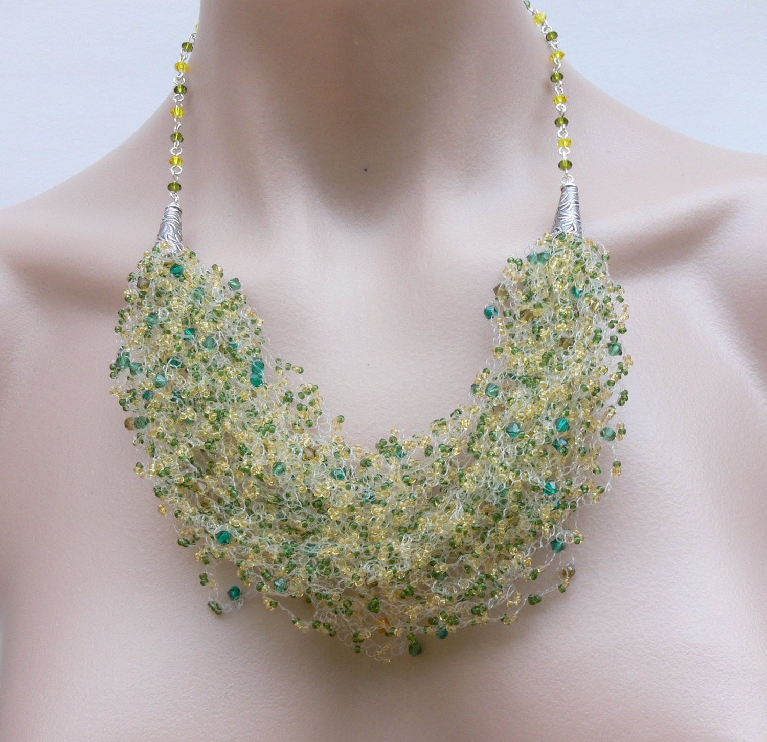 Fresh Crochet Necklace Crystal Necklace Bead Crochet Necklace Crochet Beads Necklace Of Fresh 42 Models Crochet Beads Necklace