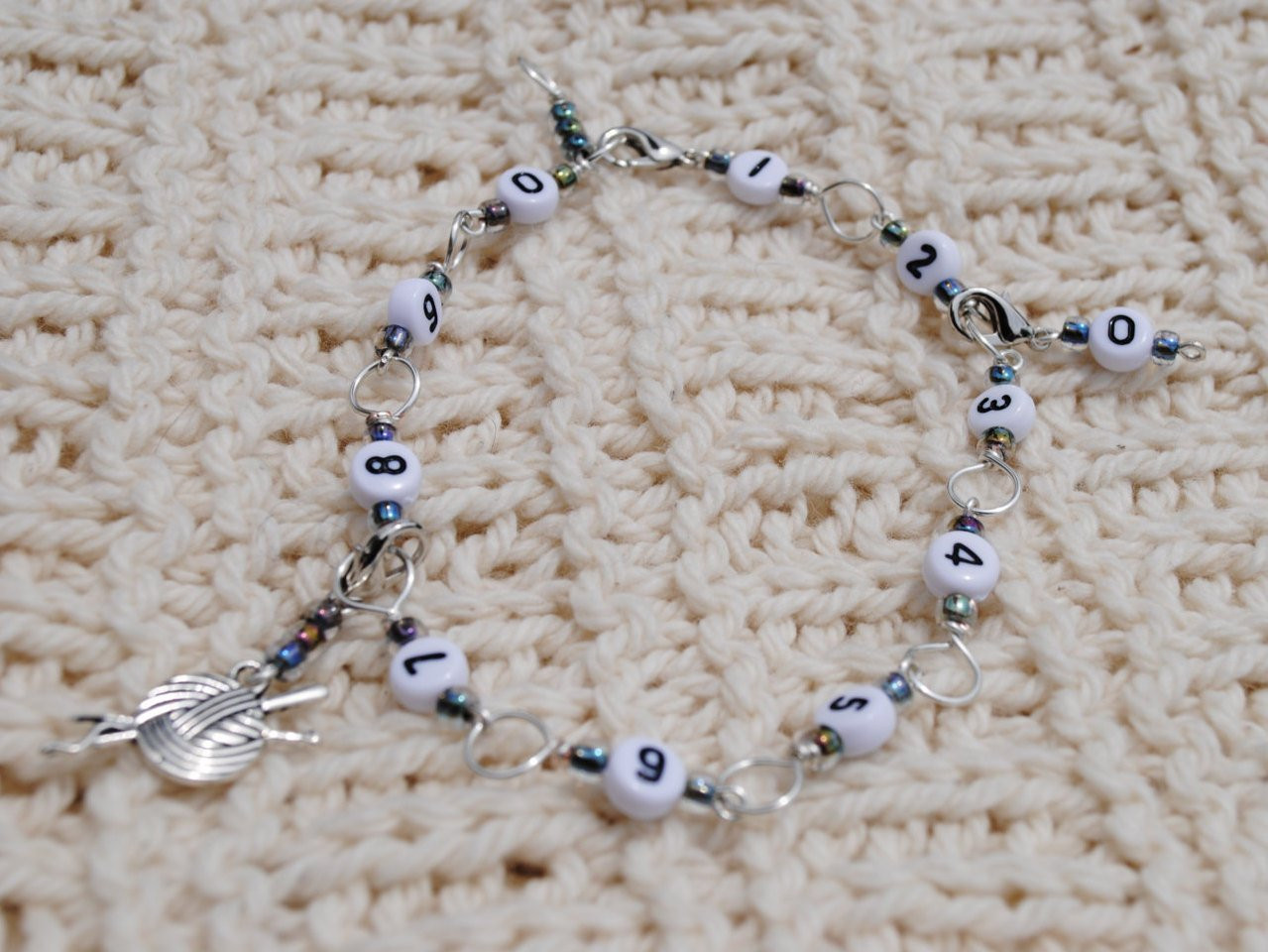 Fresh Crochet or Knit Row Counter Bracelet In Silver and Ab Black Crochet Row Counter Of New 44 Pics Crochet Row Counter