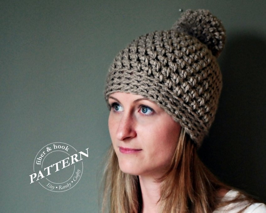 Fresh Crochet Pattern Chunky Pom Pom Beanie Crochet Pattern Chunky Crochet Beanie Pattern Of Elegant Chunky Knit Hat Pattern Roundup 12 Quick & Cozy Patterns Chunky Crochet Beanie Pattern