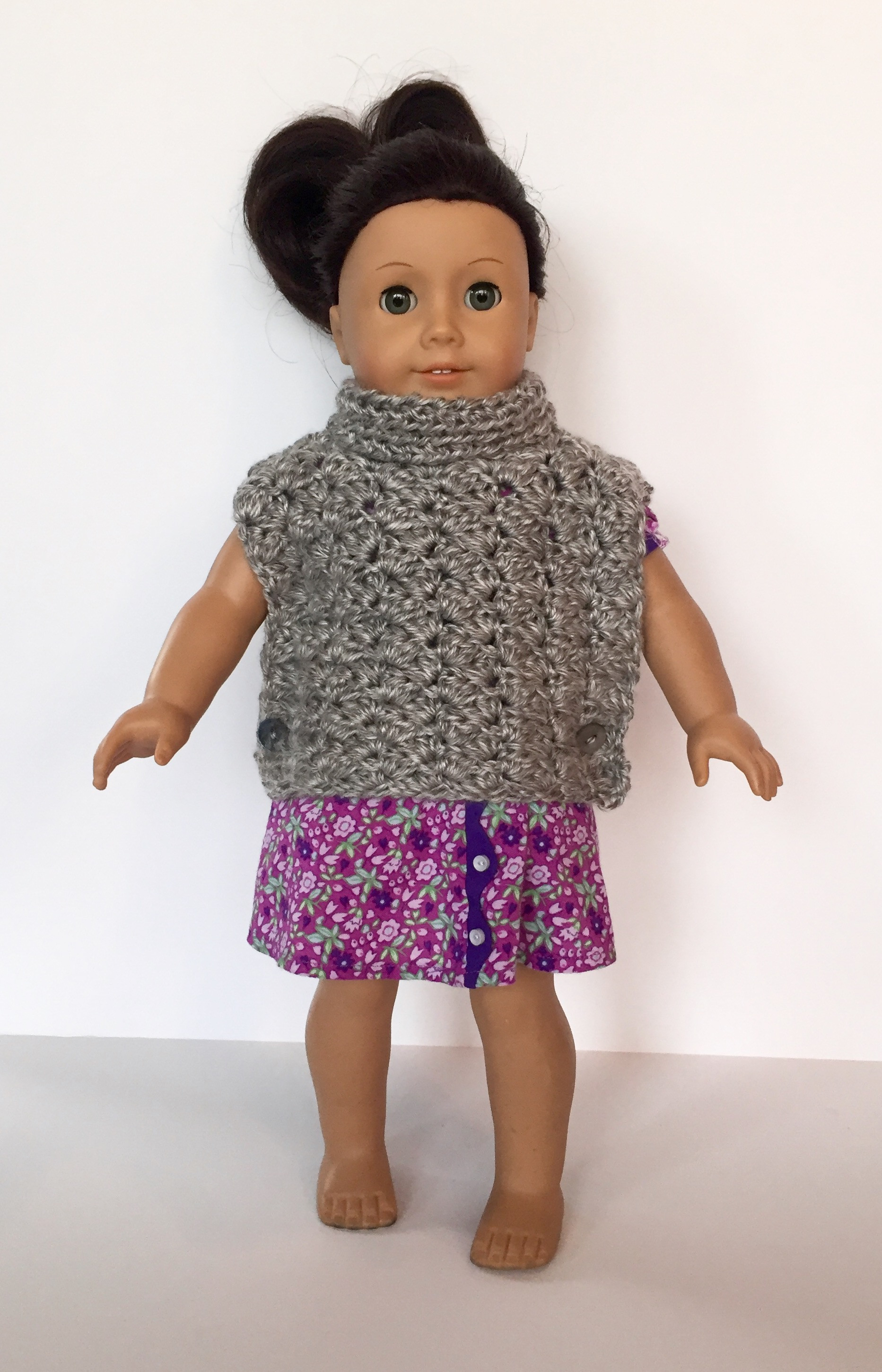 Fresh Crochet Pattern Fiona Poncho with Cowl for American American Girl Patterns Of Unique 42 Models American Girl Patterns