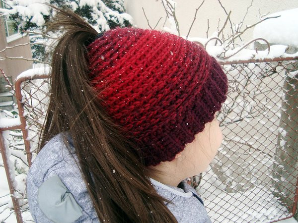Fresh Crochet Pattern Messy Bun Hat or Ponytail Beanie Winter Beanie with Hole for Bun Of Great 40 Pics Beanie with Hole for Bun