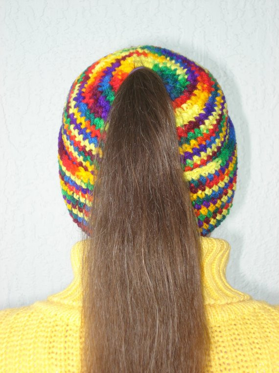 Fresh Crochet Pattern Ponytail Hat Dancox for Ponytail Hats Free Patterns Of Incredible 42 Ideas Ponytail Hats Free Patterns