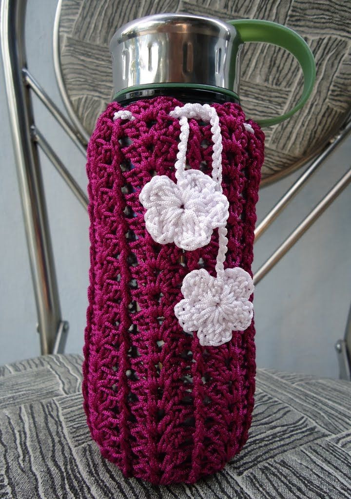 Fresh Crochet Patterns for Covers On Pinterest Water Bottle Cozy Of Beautiful 46 Photos Water Bottle Cozy