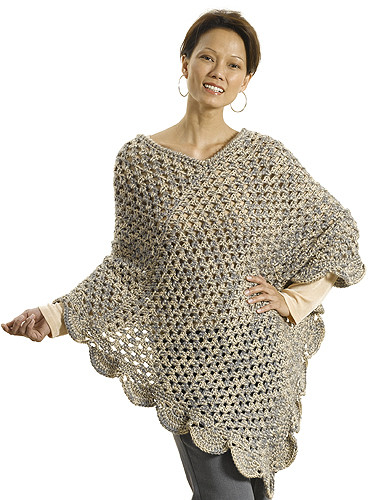 """Crochet Patterns Galore """"The Gift"""" Poncho"""