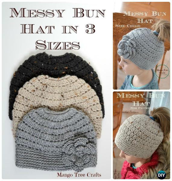 Fresh Crochet Ponytail Messy Bun Hat Free Patterns [instructions] Free Crochet Pattern for Messy Bun Hat Of Beautiful 47 Ideas Free Crochet Pattern for Messy Bun Hat