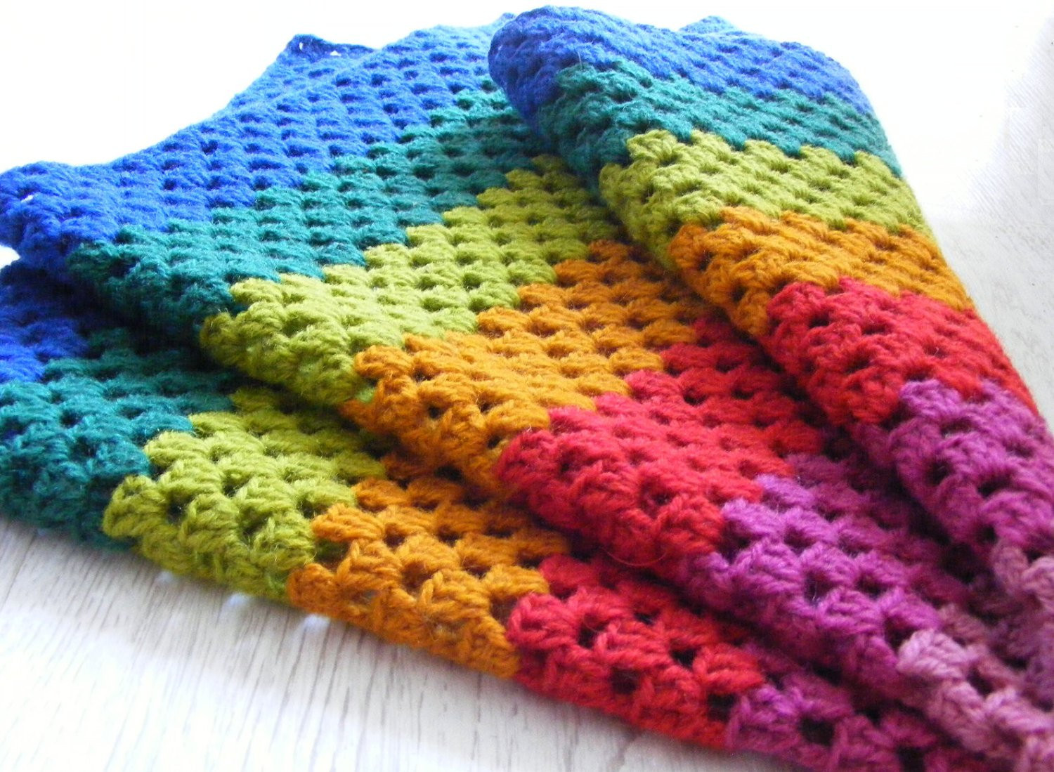 Fresh Crochet Rainbow Blanket Multicolor Baby Blanket Home Decor Rainbow Crochet Blanket Of Great 40 Photos Rainbow Crochet Blanket