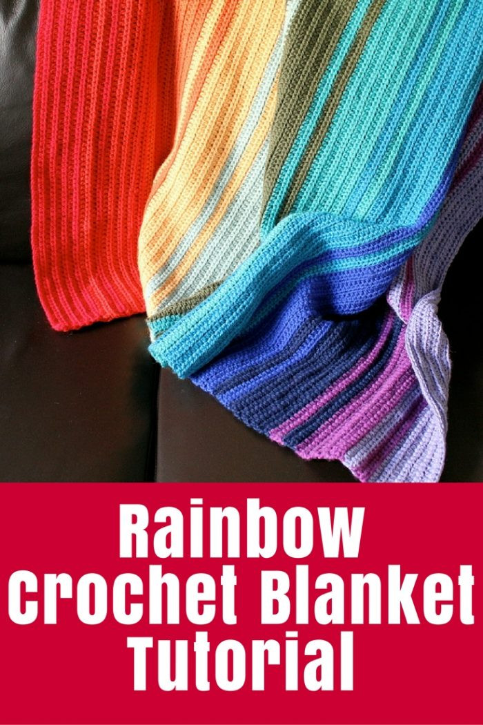 Crochet Rainbow Blanket Tutorial • The Crafty Mummy