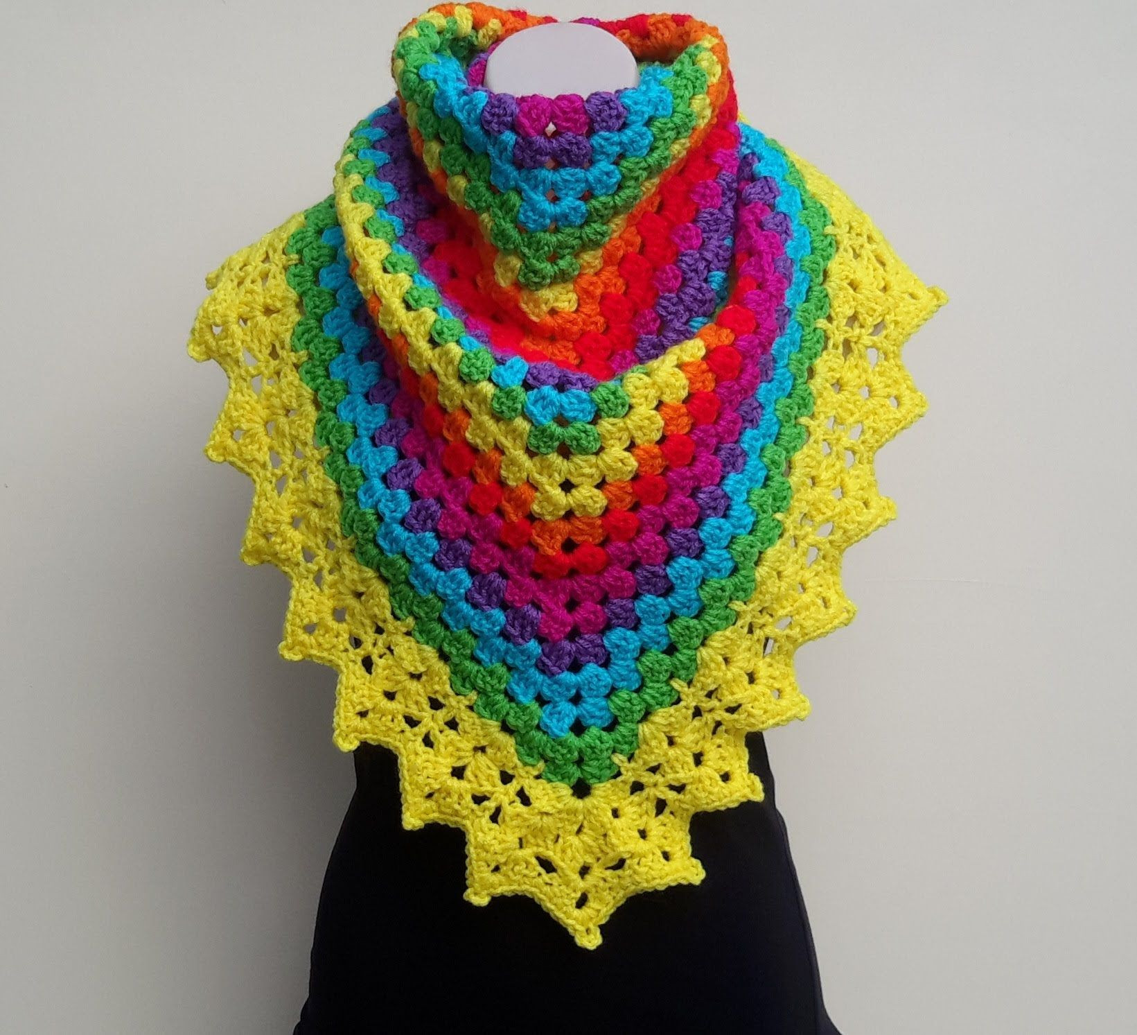 Fresh Crochet Rainbow Shawl Video Tutorial From Bobwilson123 Crochet Shawl Tutorial Of Attractive 40 Ideas Crochet Shawl Tutorial