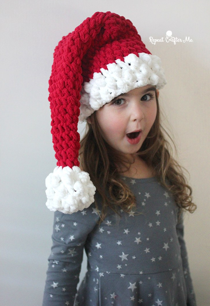Fresh Crochet Santa Hat with Bernat Blanket Yarn Repeat Crafter Me Crochet Baby Santa Hat Of Amazing 44 Images Crochet Baby Santa Hat