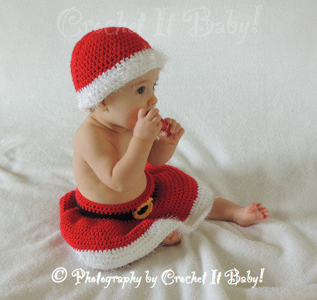 CROCHET SANTA HATS BABY – ly New Crochet Patterns
