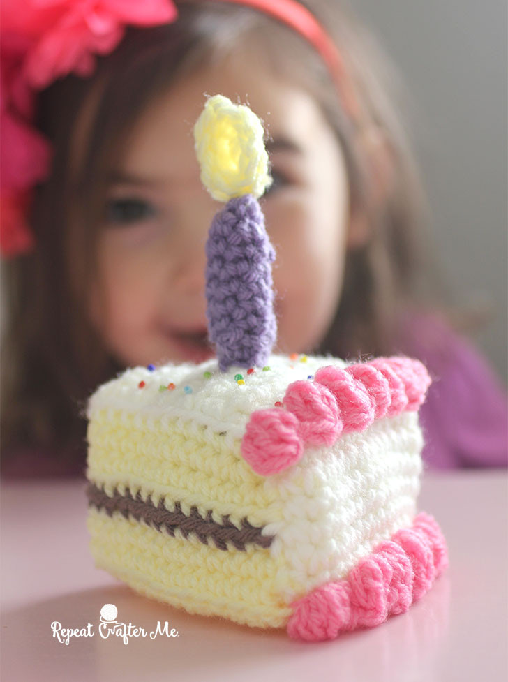 Fresh Crochet Slice Of Birthday Cake Repeat Crafter Me Crochet Cake Of Incredible 40 Ideas Crochet Cake