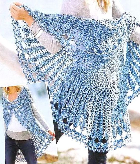 Fresh Crochet Sweaters Vests and Crochet On Pinterest Crochet Circular Vest Of Delightful 46 Models Crochet Circular Vest