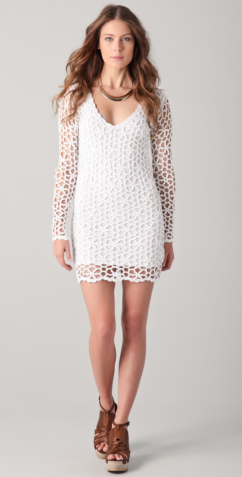 Fresh Crochetemoda Blog Vestido Branco De Crochet Crochet Trim Dresses Of Attractive 47 Images Crochet Trim Dresses
