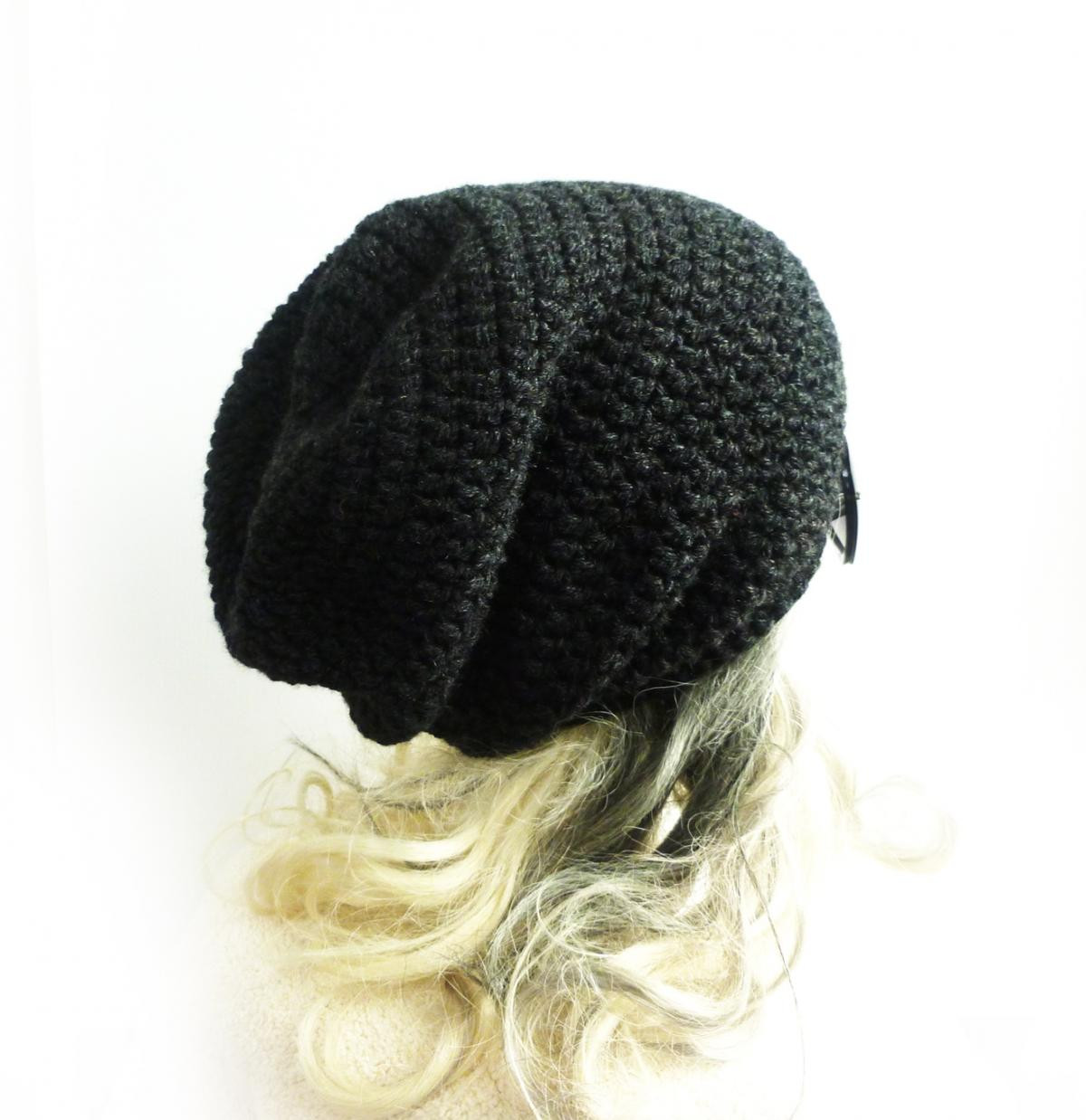 Fresh Dark Gray Beanie Slouchy Beanie Charcoal Black Crochet Slouchy Winter Hat Of Top 47 Models Slouchy Winter Hat