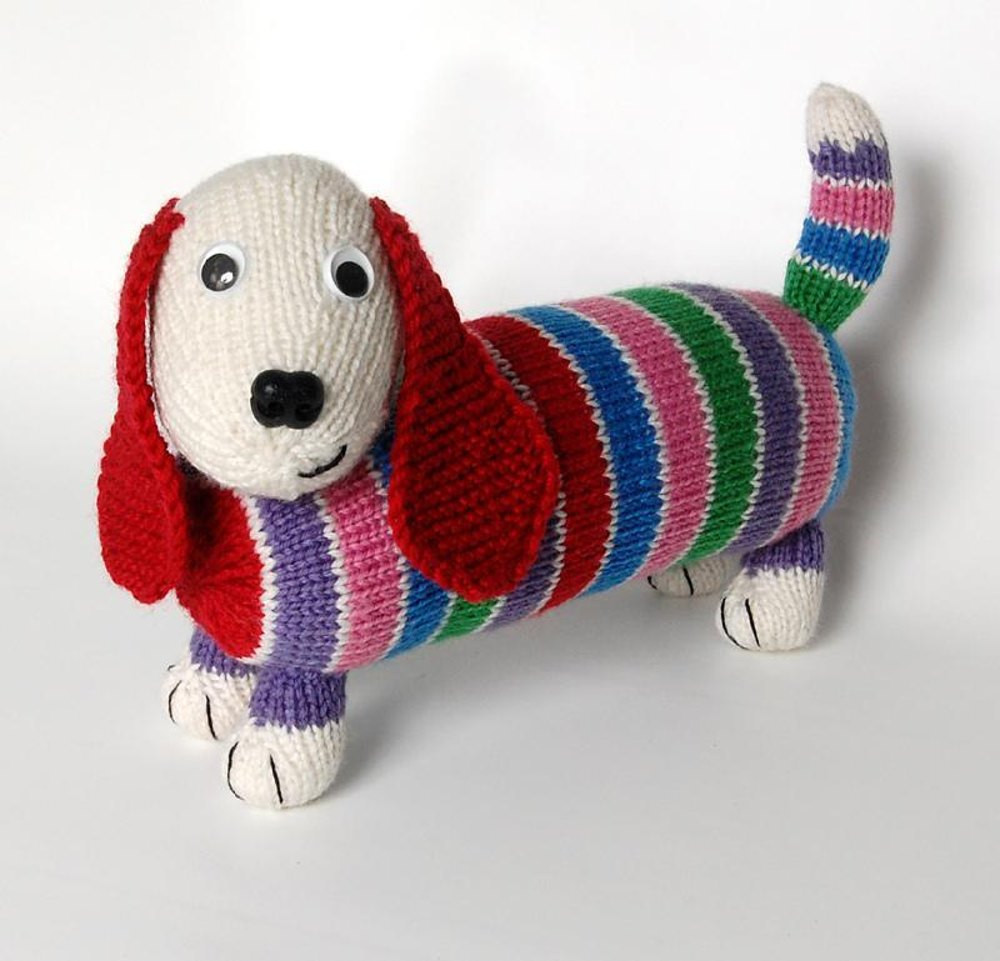 Fresh Dave the Stash Busting Dachshund Knit Flat & In the Knitted Animals Of Attractive 49 Pics Knitted Animals