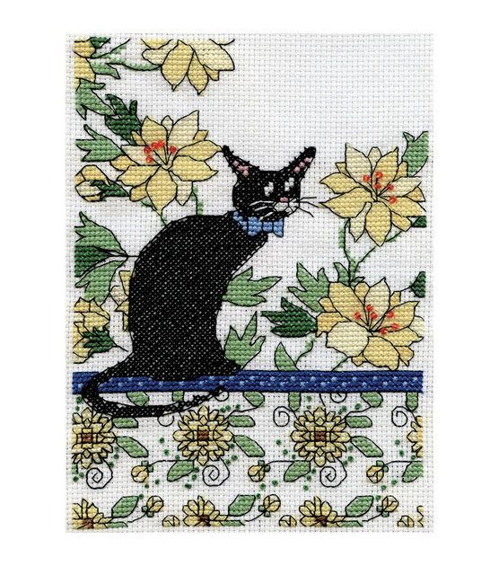 Fresh Design Works Counted Cross Stitch Kit Floral Cat Yellow Cat Cross Stitch Kits Of Perfect 42 Pics Cat Cross Stitch Kits