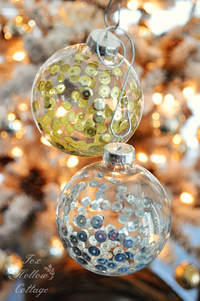 Fresh Diy Christmas ornament Craft Sequins In Clear Glass Fox Glass Christmas Balls Of Innovative 40 Models Glass Christmas Balls