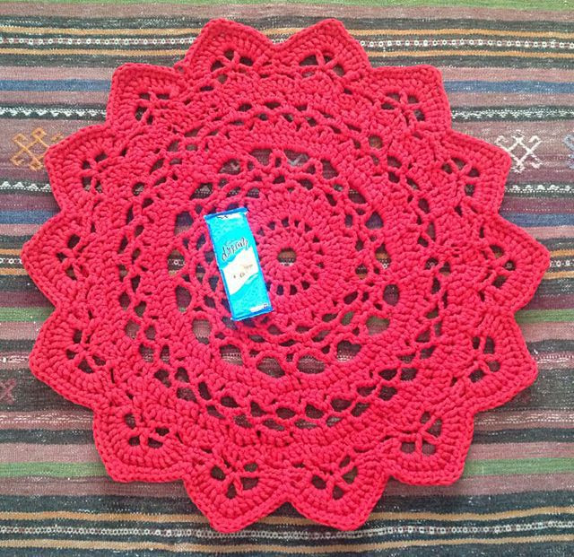 Fresh Doily Rugs with T Shirt Yarn – Crochet In Paternoster Crochet Rug Patterns with Yarn Of Great 50 Images Crochet Rug Patterns with Yarn
