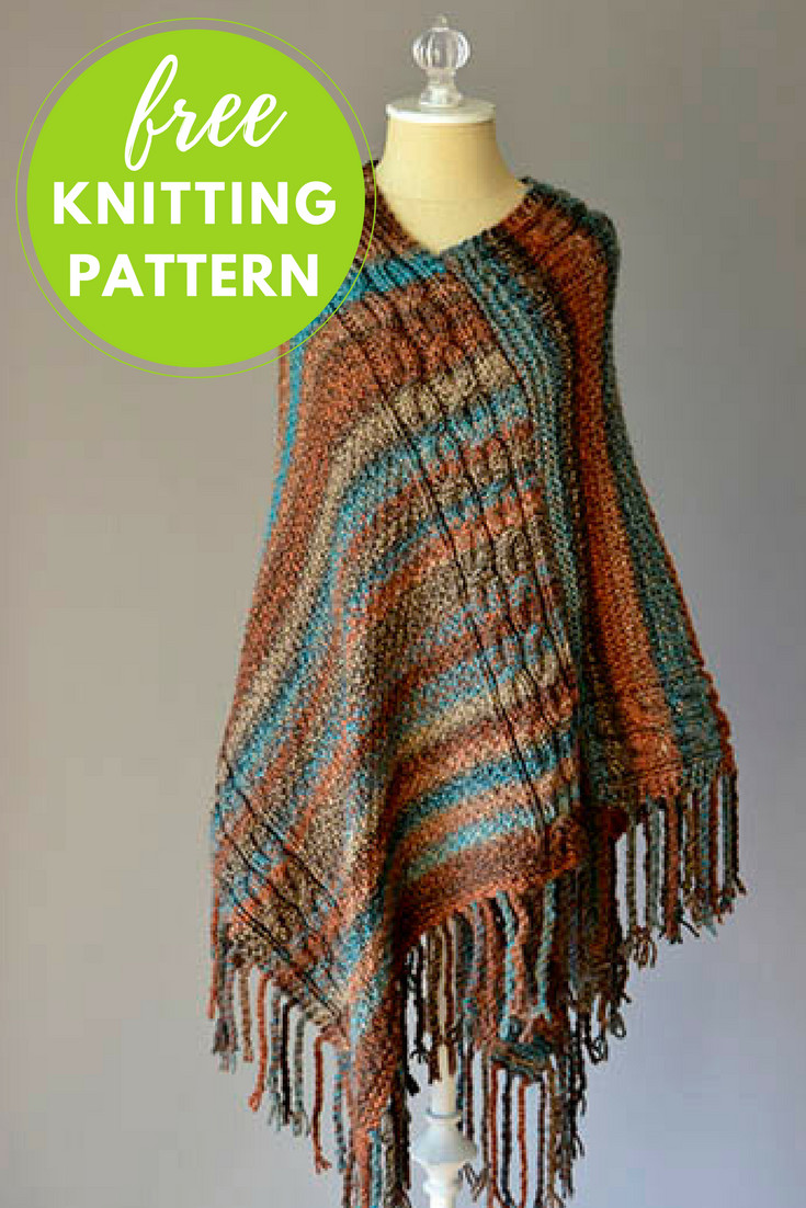 Double Cable Poncho Free Knitting Pattern — Blog NobleKnits