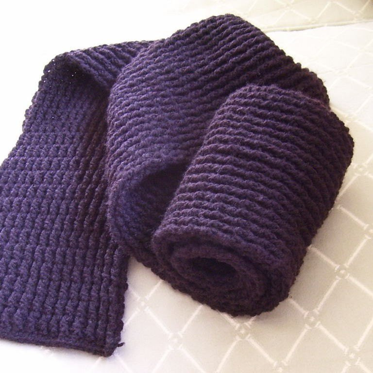 Download Now CROCHET PATTERN Men s Double Ribbed Scarf