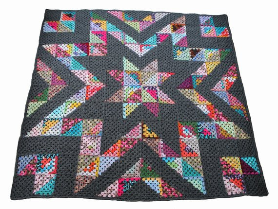 Fresh Easy Crochet Afghan Pattern Granny Star Stashbuster Crochet Crochet Star Blanket Of Superb 49 Images Crochet Star Blanket
