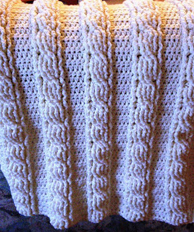 Fresh Easy Crochet Patterns for Beginners to Get Started with Crochet Cable Blanket Of Lovely 46 Models Crochet Cable Blanket