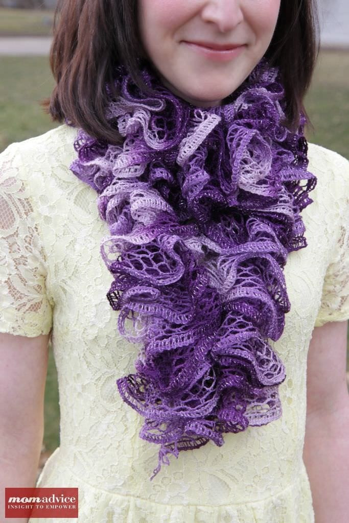 Fresh Easy Knitted Ruffled Scarf with Sashay Yarn Momadvice Ruffle Scarf Of Unique 50 Pics Ruffle Scarf